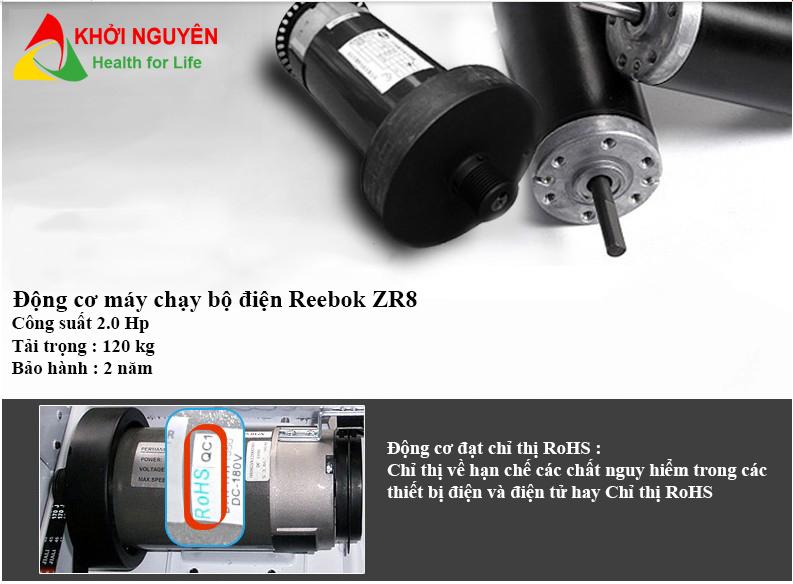 Motor máy chạy bộ điện cao cấp Reebok ZR8