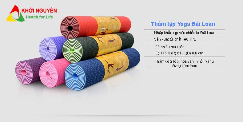 Đặc điểm của thảm tập yoga Đài Loan