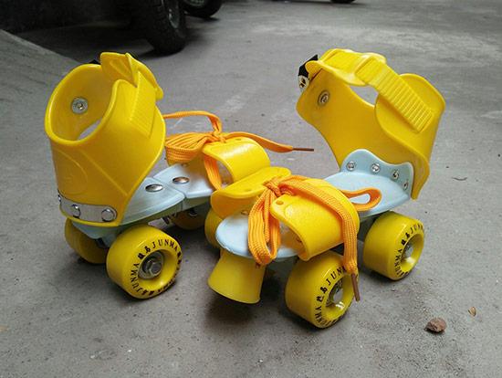 Giày patin trẻ em Junma màu vàng