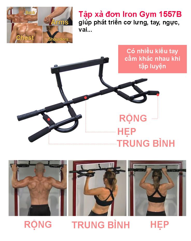 Bài tập với xà đơn đa năng Iron Gym 1557B