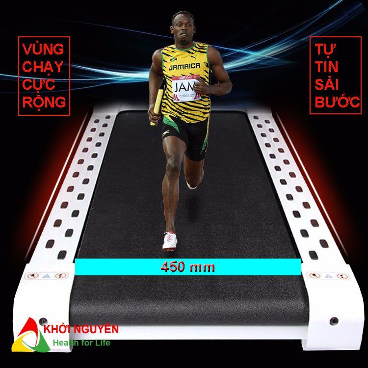 Diện tích vùng chạy trên máy chạy bộ đa năng MHT-1827AD