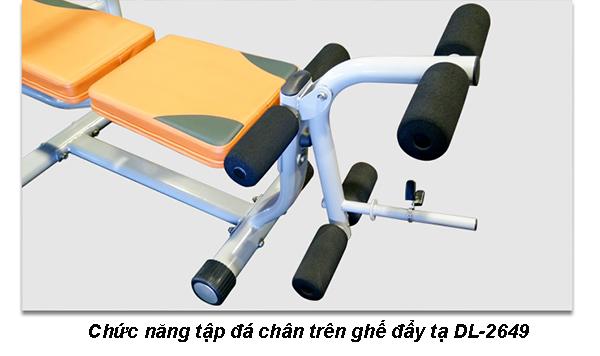 Chức năng tập đá chân trên ghế tập tạ DL-2649