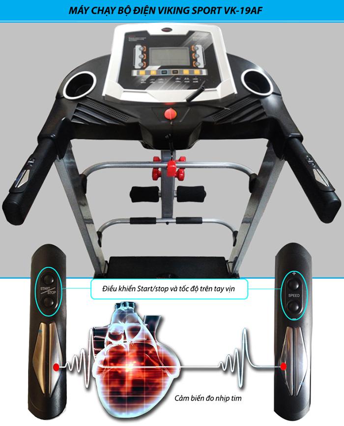 Cảm biến nhịp tim trên máy chạy bộ VK-19AF