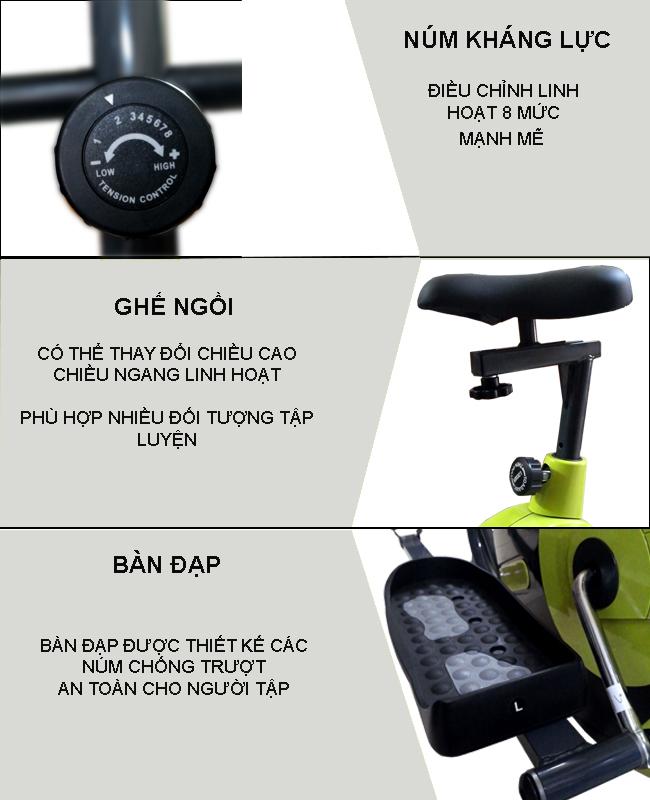 Chi tiết xe đạp tập thể dục VK-08EA
