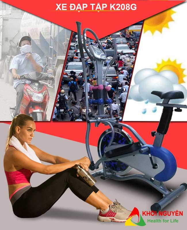 Xe đạp tập K208G
