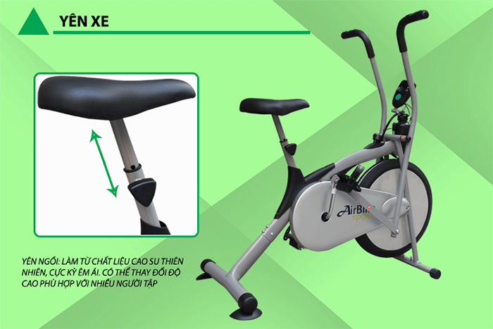 Ghế ngồi xe đạp tập thể dục Air Bike