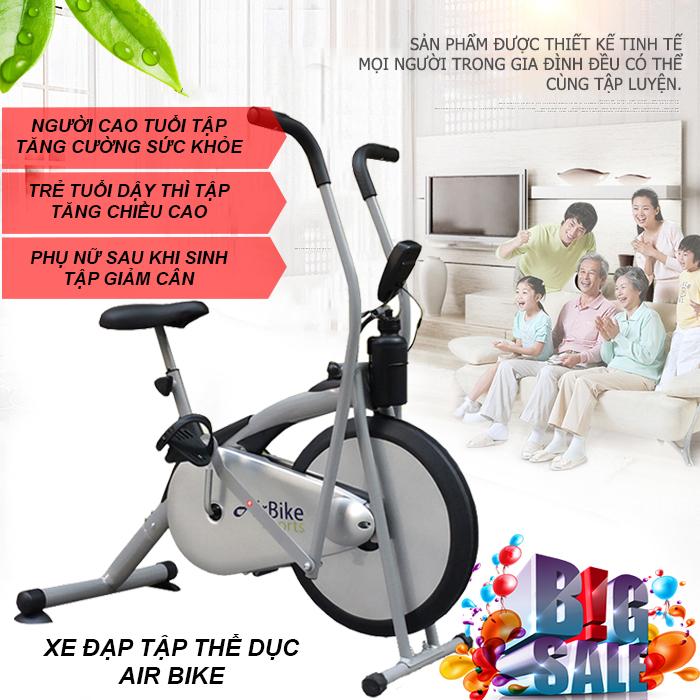 Xe đạp tập cho người già Air Bike