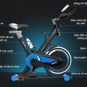 Chi tiết xe đạp tập thể dục MHS-600