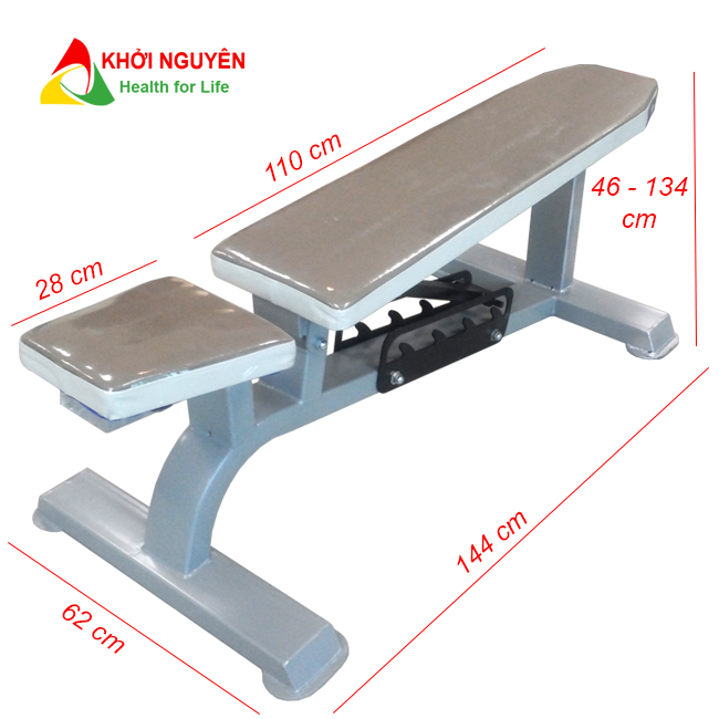 Kích thước ghế tập tạ điều chỉnh KNG-06