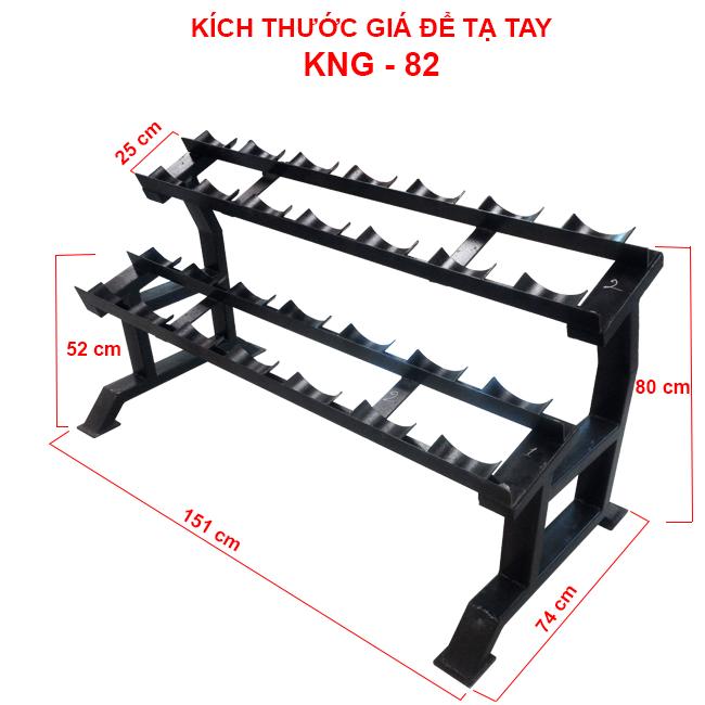 Kích thước giá để tạ tay KNG-82