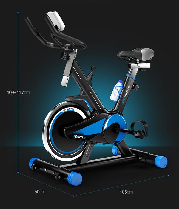 Kích thước xe đạp tập thể dục MHS-600