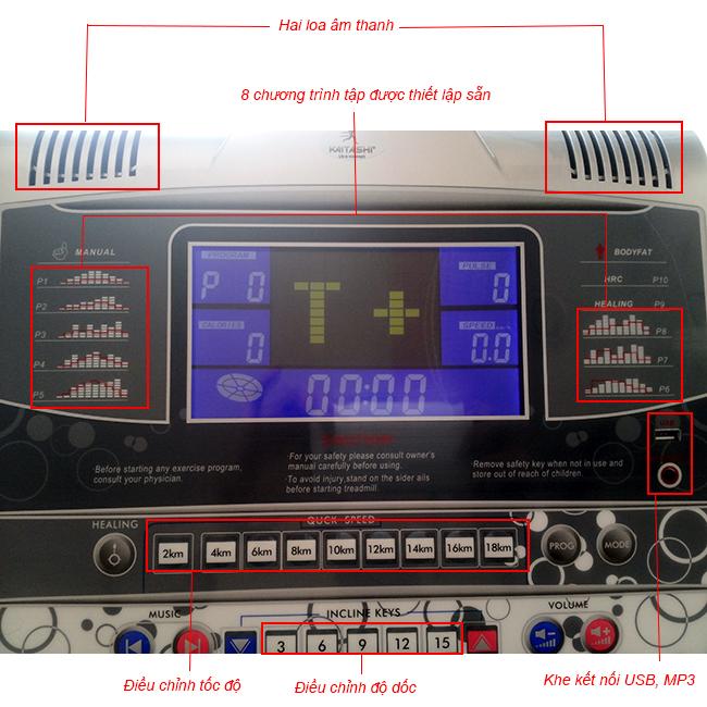 Bảng điều khiển máy chạy bộ điện Kaitashi K-1