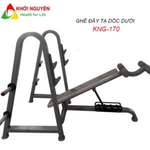 Ghế đẩy tạ dốc xuống KNG-170