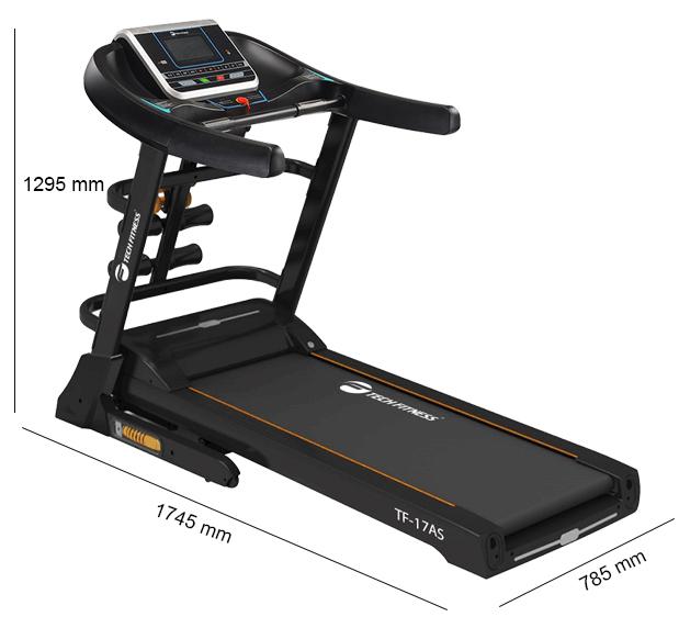 Kích thước máy chạy bộ Tech Fitness TF-17AS