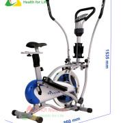 Kích thước xe đạp tập Obitrac Elite MO-2085