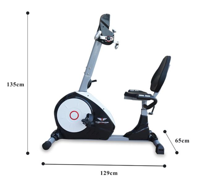 Kích thước xe đạp tập thể dục K8602R