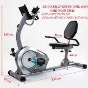 Kích thước xe đạp tập thể dục BC-51013