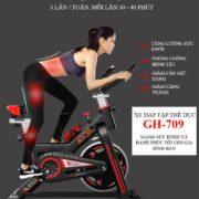 Tác dụng của xe đạp tập thể dục GH-709