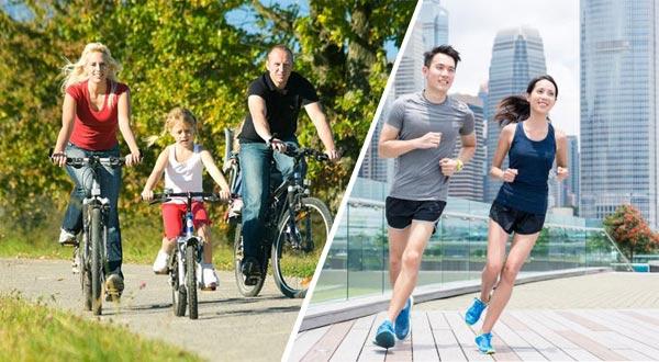 Đạp xe và chạy bộ cái nào tốt hơn?