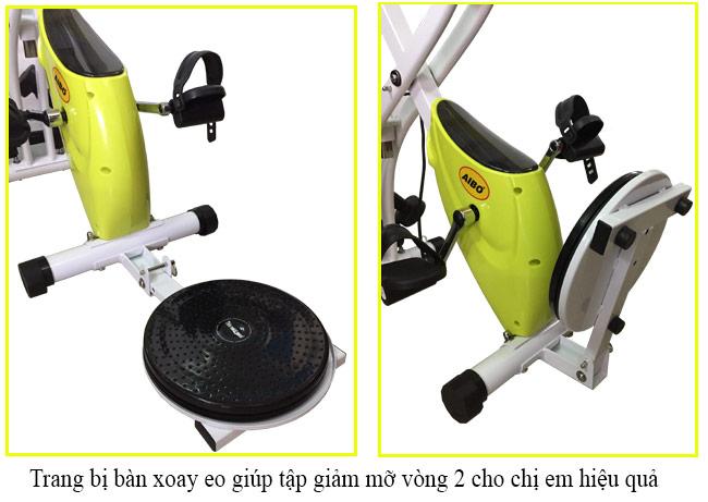 Bàn xoay eo trên xe đạp tập Pro Fitness PF-07