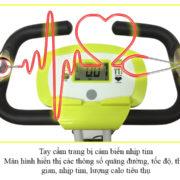 Tay cầm cảm biến nhịp tim xe đạp thể dục X-bike PF-07