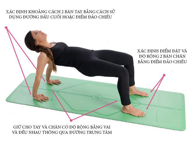Tác dụng của đường định tuyến trên thảm Yoga