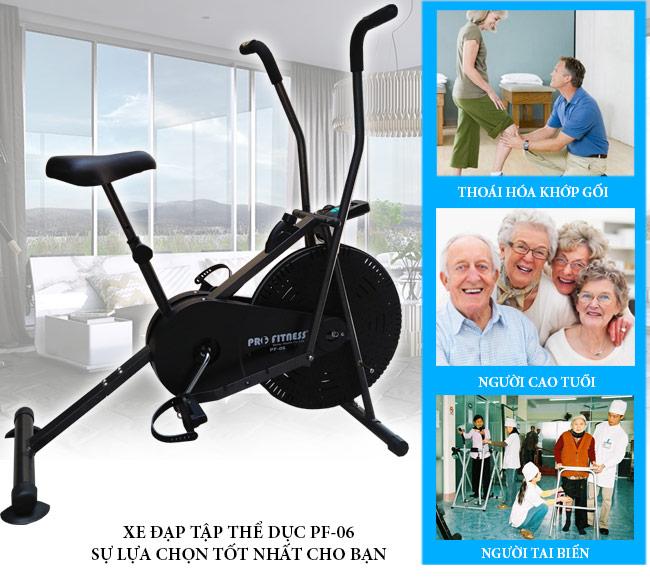 Tác dụng của xe đạp tập thể dục Pro Fitness PF-06