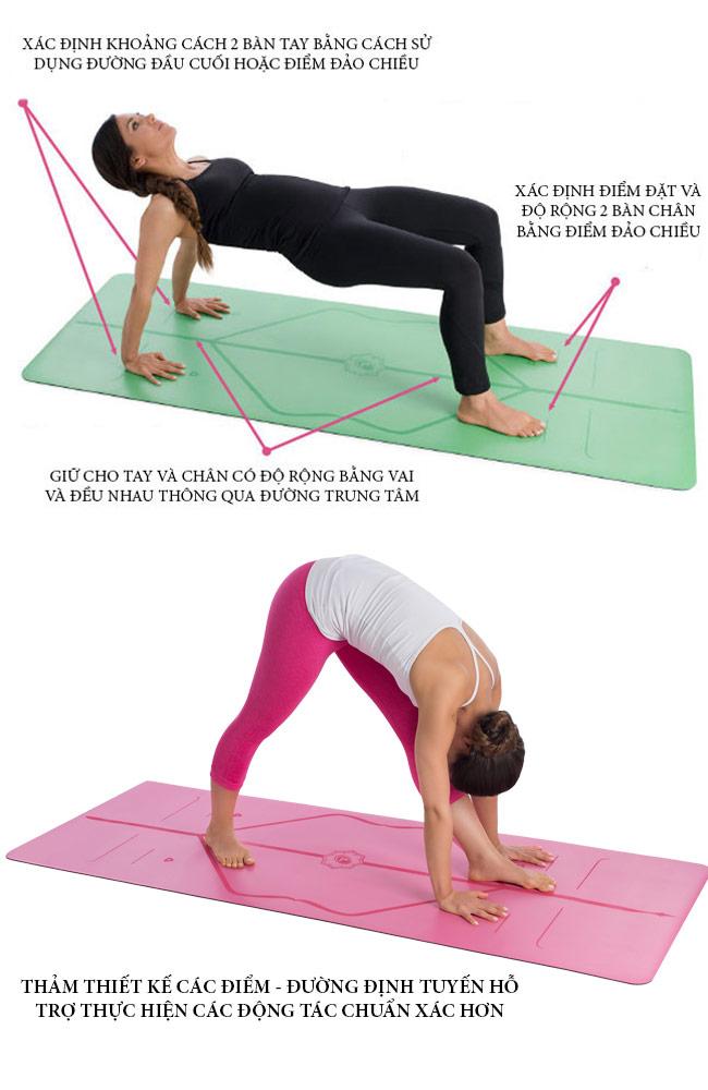Thảm Yoga định tuyến Liforme