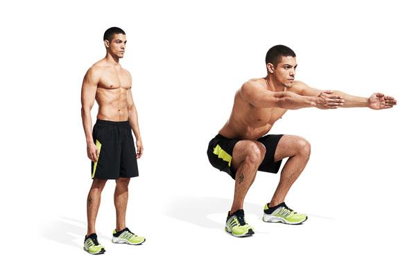 Body-Weight Squat bài tập cơ đùi