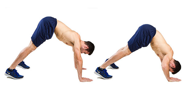 Pike-Push-up tập cơ vai