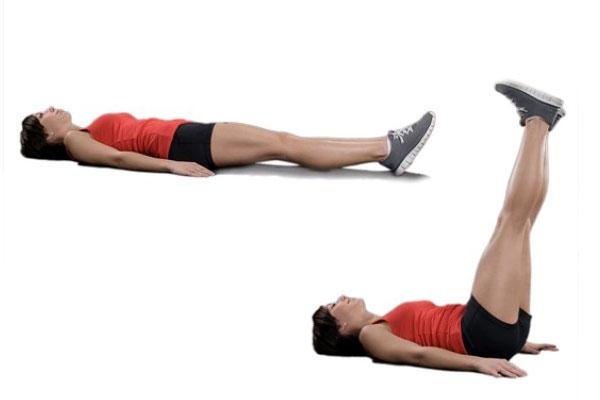 Tập cơ bụng nâng chân