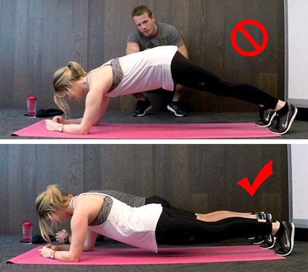 Tập Plank đúng cách 1