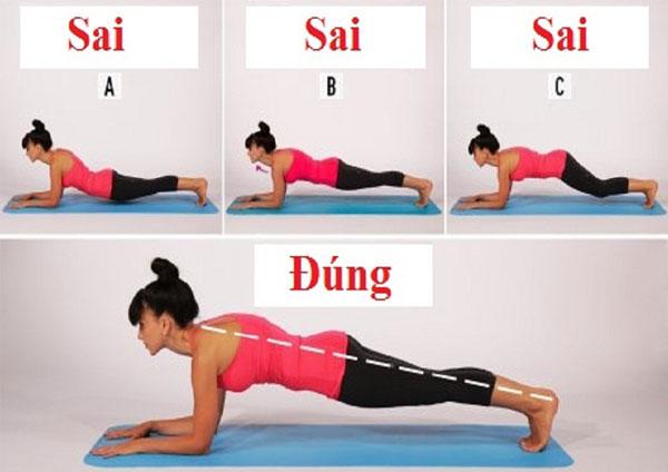 Tập Plank đúng cách 2