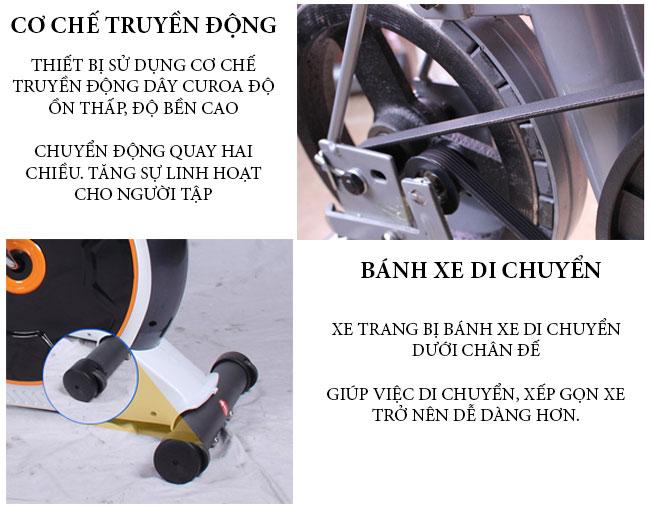 Chi tiết xe đạp tập D853
