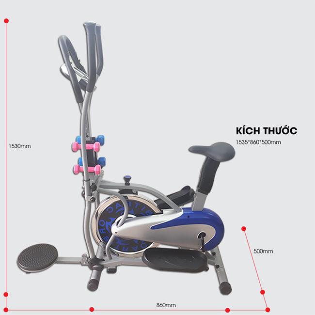 Kích thước xe đạp tập toàn thân K2085