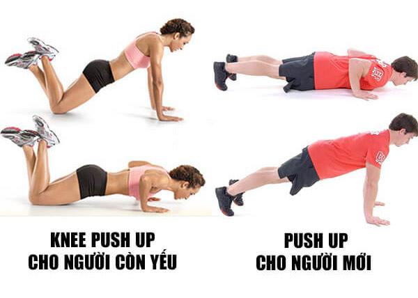 Bài tập chống đẩy tập cơ ngực cho nữ