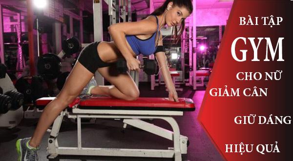 Bài tập Gym cho nữ giảm cân