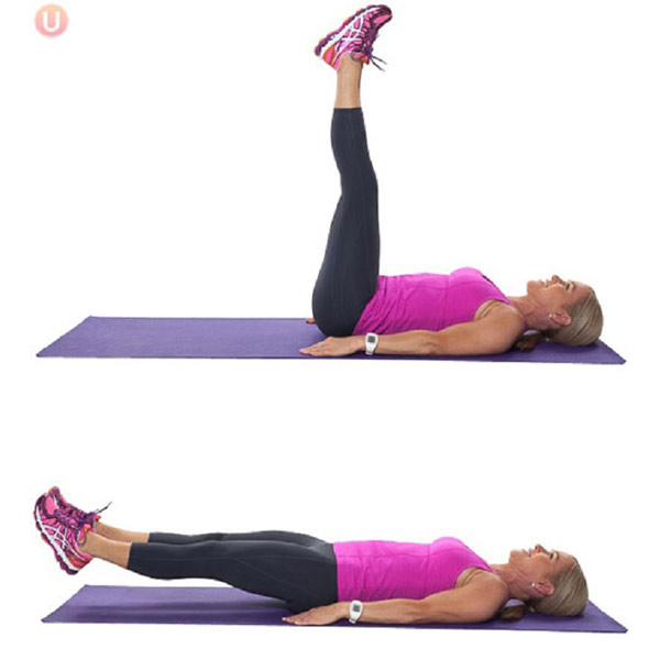 Bài tập nâng hạ chân cho cơ bụng dưới