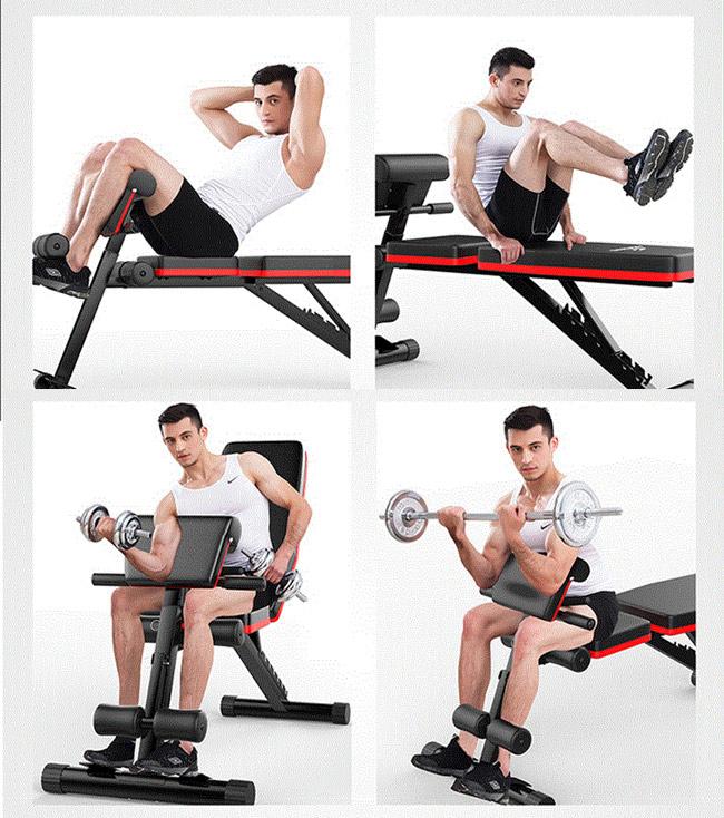 Bài tập trên ghế tập gym đa năng P189