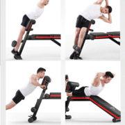 Bài tập gym trên ghế tập tạ P189