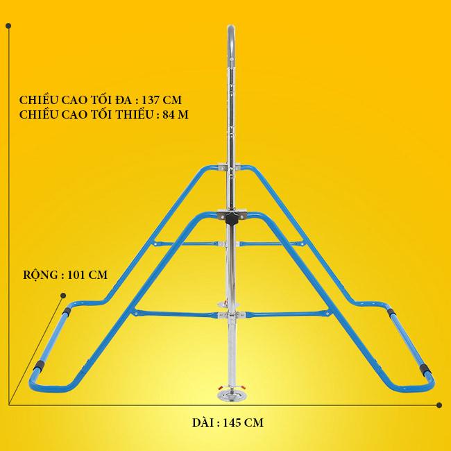 Kích thước xà đơn xếp trẻ em DG-001