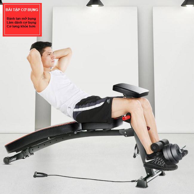 Bài tập cơ bụng với ghế KK-021D