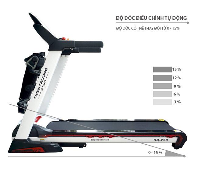Điều chỉnh độ dốc máy chạy HQ-V2C