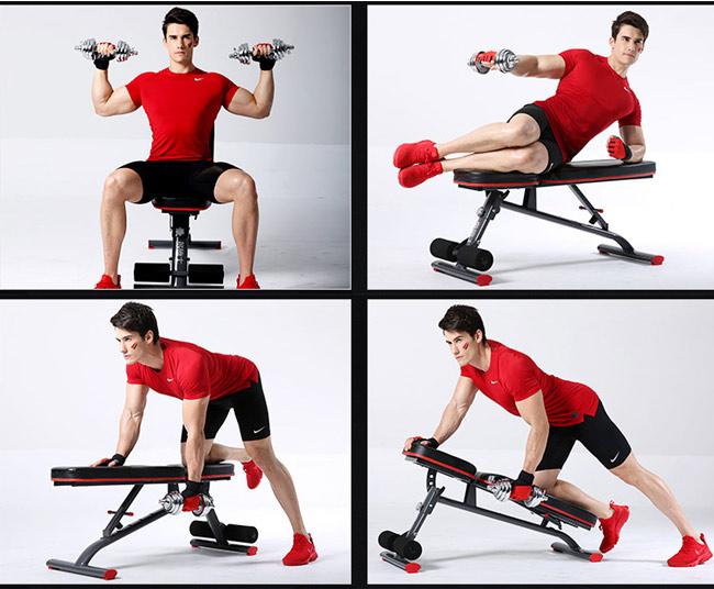 Bài tập với ghế tập gym DDS-1201