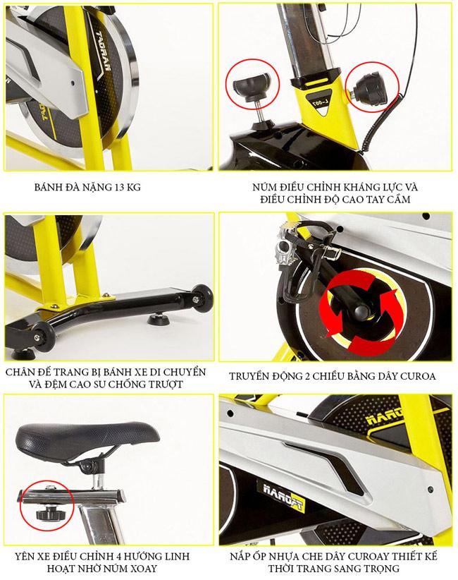 Chi tiết xe đạp tập HQ-007