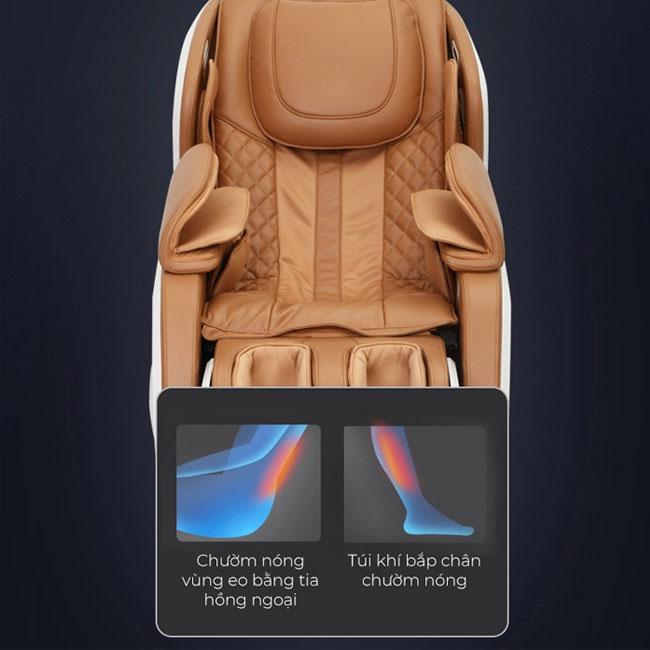 Massage nhiệt trên ghế massage cao cấp OR-200