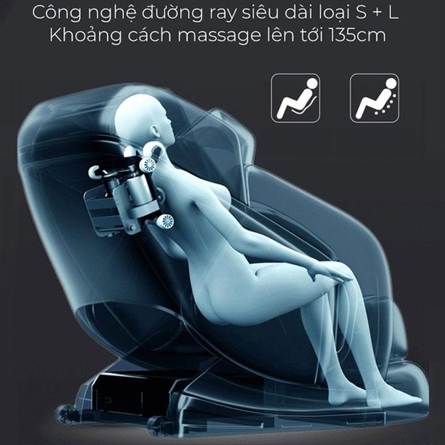 Trục tích hợp SL trên ghế mát xa toàn thân OR-200