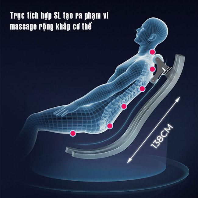 Trục tích hợp SL trên ghế massage cao cấp Oreni OR-500