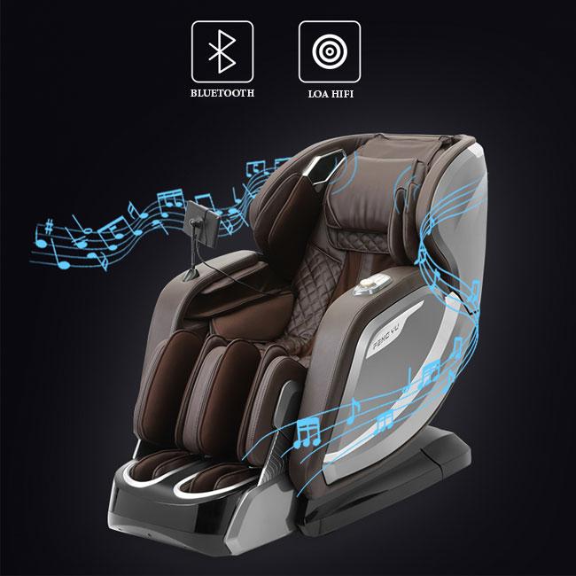 Chức năng nghe nhạc trên ghế massage Oreni OR-520