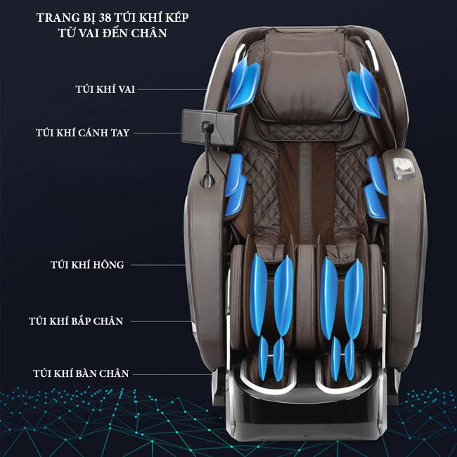 Túi khí trên ghế massage oreni OR-520